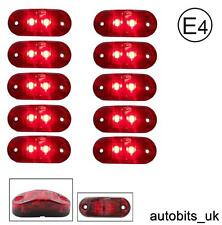 10 Pcs Red 12v 2 Led Side  Rear Tail Marker Lights Lamp Truck Lorry Bus E-Mark