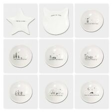 East of India Wobbly Sayings White Ceramic Trinket Jewellery Bowl Dish Gift 10cm