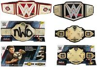 -WWE World NWO NXT Championship Belt Ages 8+ Toy Fight Play Ring Trophy Leather