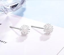S925 Sterling Silver Flower Dandelion Stud Earrings