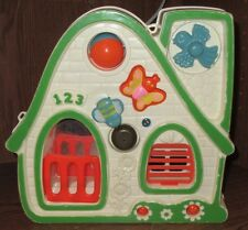 VTG RARE HTF House Baby Infant Crib Hanging Toy Busy Box Activity Mattel 1978