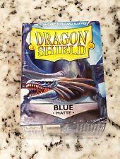 Matte Dragon Shields Standard Size Card Protector Sleeves MTG 100ct Blue Matte