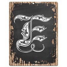 PP0476 Alphabet Initial Name Letter E Chic Sign Bar Shop Store Home Room Decor