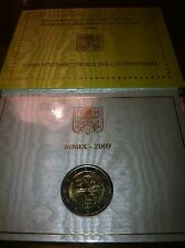 BLISTER 2 EURO VATICAN 2009 ANNEE INTERNATIONALE ASTRONOMIE COMMEMORATIVE NEUF