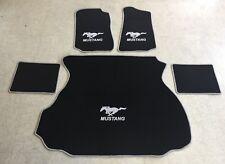 Autoteppich Fußmatten Kofferraum Set für Ford Mustang Coupe silber 94-04 5tlg.