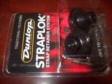 NEW - Dunlop Traditional Straplok Strap Lock System - BLACK, #SLS1503BK