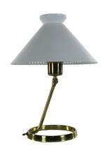 Tisch Lampe 50er Jahre Italy poliertes Messing Mid Century alte vintage Leuchte
