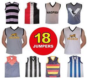 Sets of 18 Football Jumpers Collingwood Richmond Geelong Adelaide 18 Footy Socks
