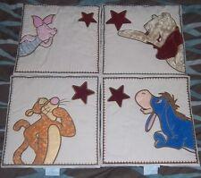 Winnie the Pooh Wall Hangings Set 4 Wish Upon a Star Plush Tigger Piglet Eeyore