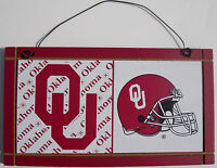 Sooners Sign Oklahoma University College Licensed Wood Sport Team NCAA