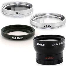 Albinar 30.5mm Weitwinkel Objektiv, CPL, UV Filter für JVC Mini Camcorder GZ-MS120