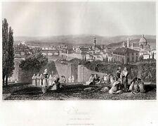 FIRENZE DA SAN MINIATO AL MONTE. Granducato di Toscana. HAKEWILL. ACCIAIO. 1820