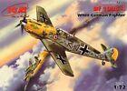 MESSERSCHMITT Bf 109 E-4 (HAHN & VON VERRA LUFTWAFFE ACES MARKINGS) 1/72 ICM