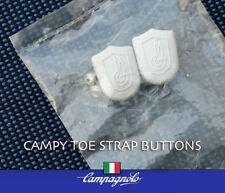 Vintage Campy Toe Strap Buttons, embossed wings, Nos, original bag, Ships Free!