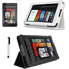 PU Leather Folio Stand Case Cover for Amazon Kindle Fire 7