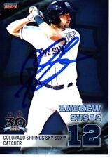 Andrew Susac 2017 Colorado Springs Sky Sox Signed Card