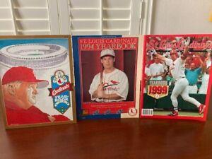 1990, '94 & '99 St. Louis Cardinals souvenir yearbooks