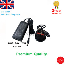 Desktop Thermal Printer Power Supply PSU Adapter Charger 24V 2.5A 60W 6.3*3.0mm