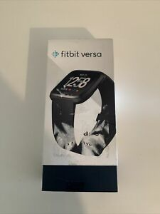 Fitbit Versa Fitness Activity Tracker, One Size - Black + Silver Band