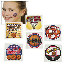 36 Assorted Fun Basketball Sports Kids Temporary Tattoos Party Favors