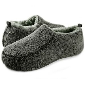 Men's Slippers Cozy Comfy Funny Fuzzy Fluffy Indoor Warm Non-Slip House Shoes