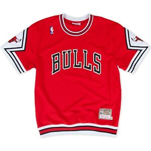 Authentic Mitchell & Ness NBA Chicago Bulls Red Shooting Shirts Jersey
