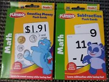 Playskool Math Flashcards (Counting Money & Subtraction) New w/ Reward Stickers