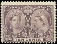 1897 Mint NH Canada F Scott #57 10c Diamond Jubilee Stamp