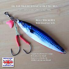 Slowfall Rictor Mk2 Slow Jigs Blue Mackerel Realfish snap and twin assist hooks