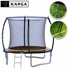 KANGA 8ft Premium Trampoline With Enclosure, Safety Net, Ladder & Anchor Kit