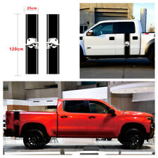 DIY Pair Truck Bed Racing Stripe Skull Vinyl Decals Stickers 120x25cm Waterproof