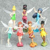 6PCS TINKERBELL Wonderful little fairy PVC Doll Toy Model DIY Cake Decoration