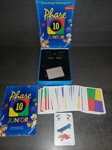 Phase 10 JUNIOR  Kartenspiel von  Ravensburger  TOP   ZUSTAND
