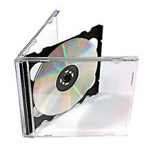 VISION MEDIA 15 X DOPPIO CD JEWEL CASE NERO VASSOIO - 10.4 mm spina