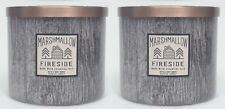 2 Bath & Body Works MARSHMALLOW FIRESIDE 3-Wick Candle 14.5 oz