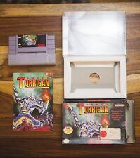 Super Turrican SNES Complete Box Manual CIB Super Nintendo 1993 Seika Lot B wrap
