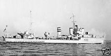 ROYAL NAVY H CLASS DESTROYER HMS HUNTER - BATTLE OF NARVIK - WORLD WAR II