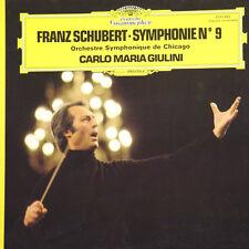 F SCHUBERT Symphonie N° 9 Carlo Maria Giulini FR Press D Gram 2530 882 1977 LP