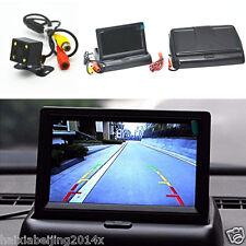 """Car SUV Rear View 4LED CCD Night Vision Camera 4.3"""" Foldable LCD Display Monitor"""