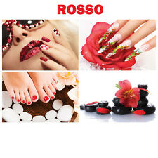"""4 Wall Decoration Rosso RED Salon Spa Themed Murals on Canvas Nail 36"""" x 24"""""""