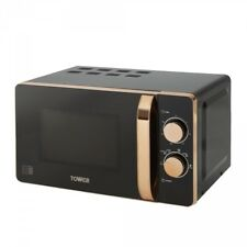 Tower - T24020 - Rose Gold And Black 800w 20ltr Manual Microwave