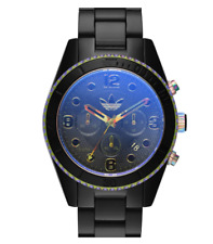 Adidas Men's Black Brisbane Iridescent Crystal Plastic Bracelet Watch 0634