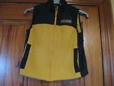 Gap Age 4 Yellow and Navy Blue Zip UP Fleece Gilet in Great Condition