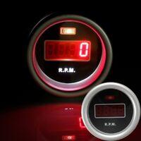 "2"" 52mm Red LED Digital Display Rev Counter Tacho Tachometer RPM Gauge Car Meter"