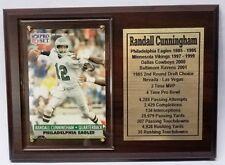 Philadelphia Eagles Randall Cunningham Pro Set Football Card Plaque