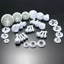 33pcs Sugarcraft Cake Decorating Fondant Plunger Tool Mold Mould Cookies Cutter