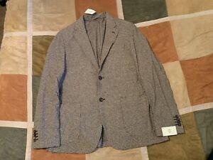 $995 Eleventy brown houndstooth blazer sport coat 56 46 men NEW made in italy vv