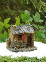 Miniature Dollhouse FAIRY GARDEN ~ Small Fairy House Cottage with Light ~ NEW