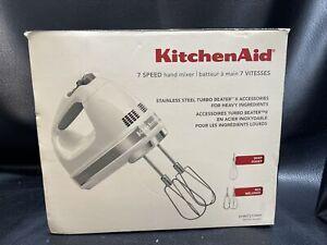 KitchenAid 7 speed hand mixer KHM721WH White