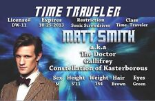 MATT SMITH - TIME TRAVELER from Dr Who DOCTOR WHO Time and Relative Dimension